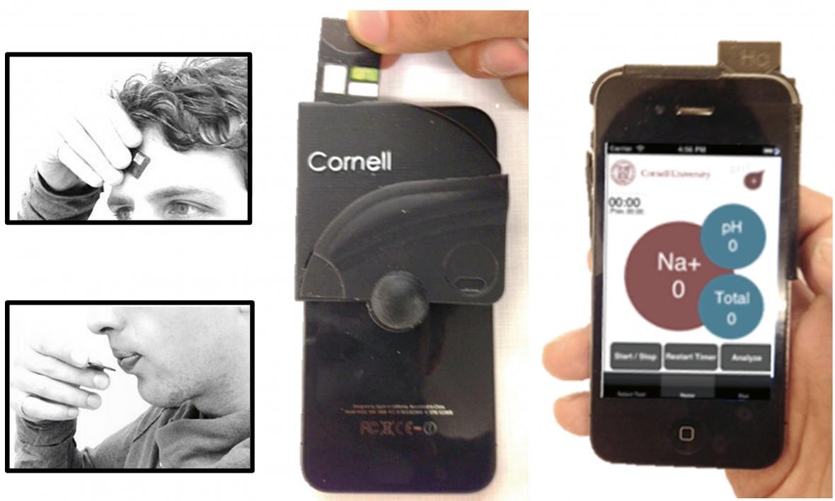 Mobil kan mäta pH i saliven