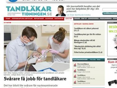 Rekordtrafik på Tandläkartidningens webb