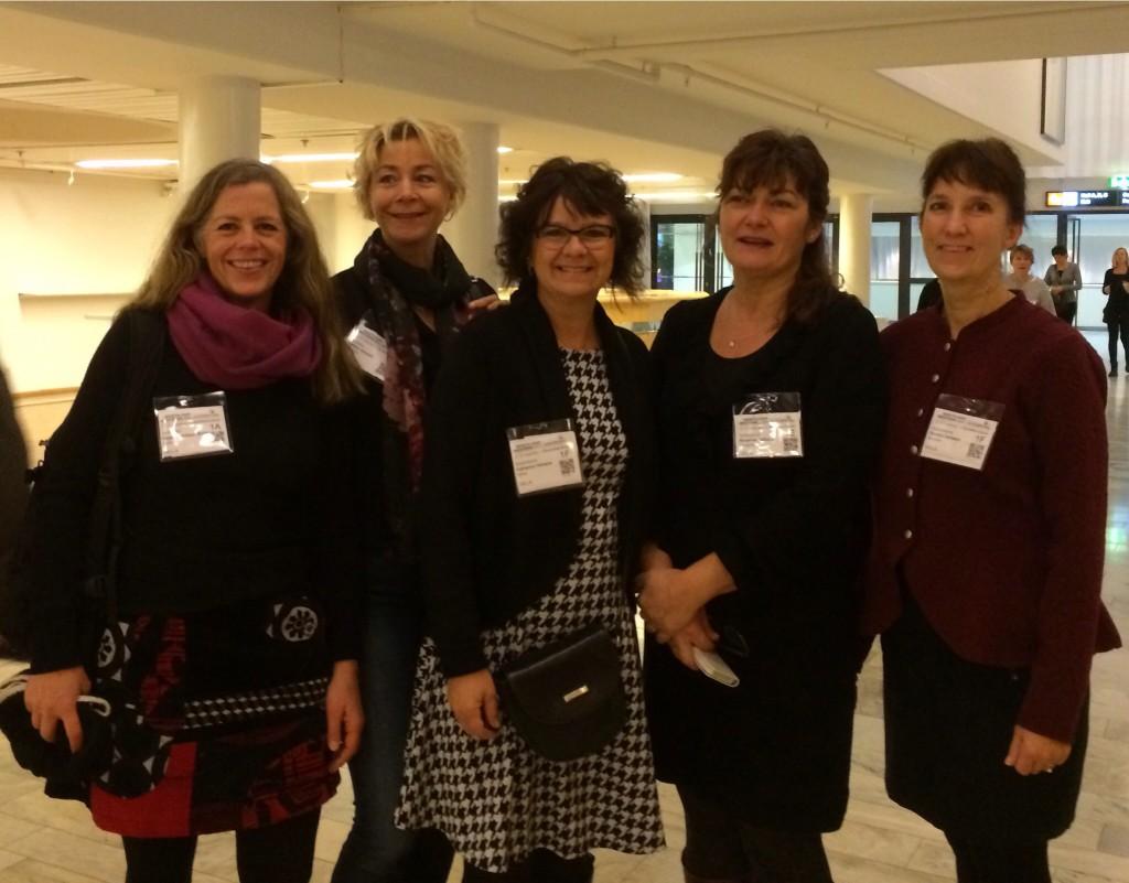 Här är hela min personal. Från vänster: jag, Helena, Catty, Susanne och Annika.