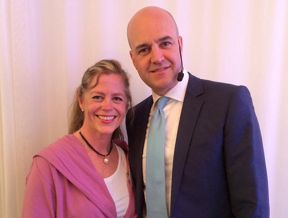 Fredrik Reinfeldt hade inget emot att ställa upp på bild tillsammans med mig! (Och jag hade absolut inget emot att ställa upp på bild tillsammans med honom…)