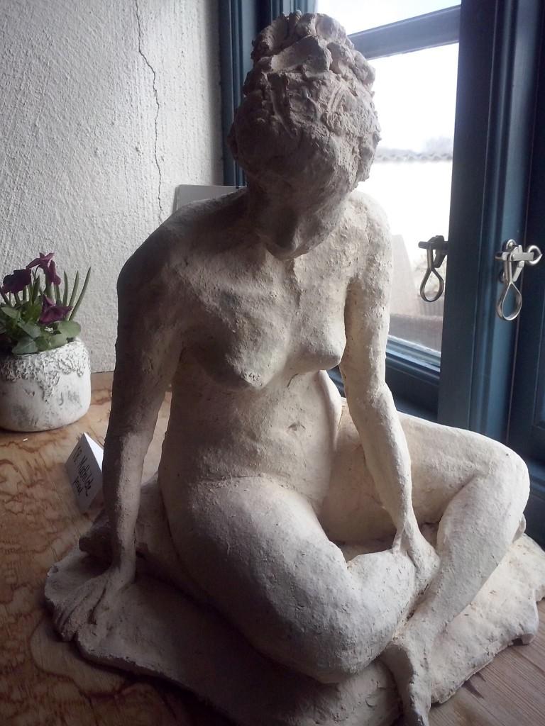 En av mina skulpturer - Mathilde.
