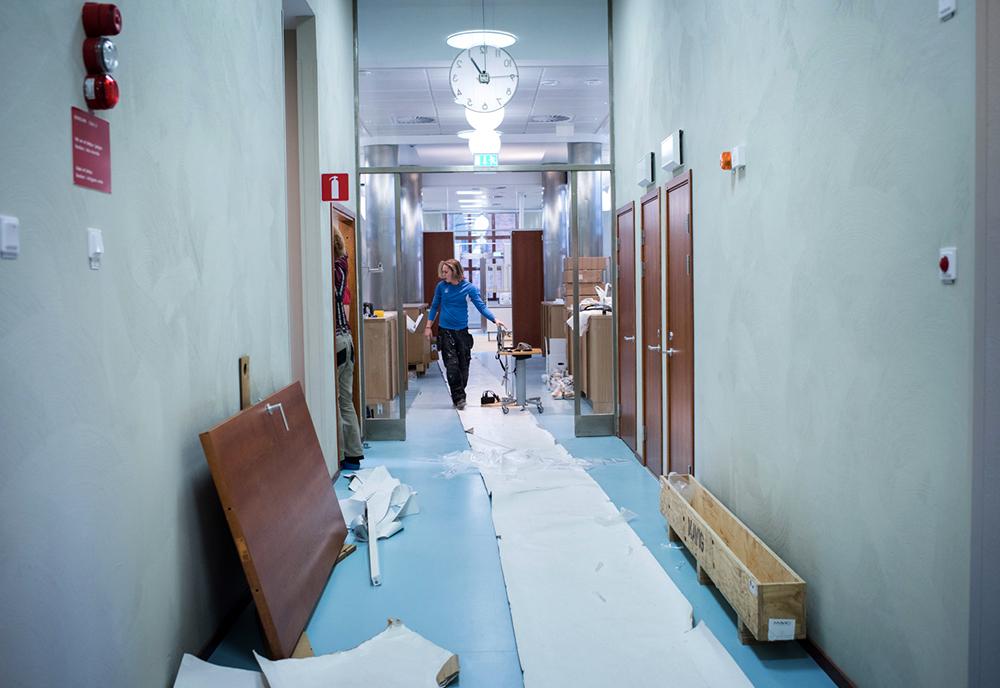Det finns mycket kvar att göra innan allt är klart på nya Eastman. Foto: Anna Rut Fridholm