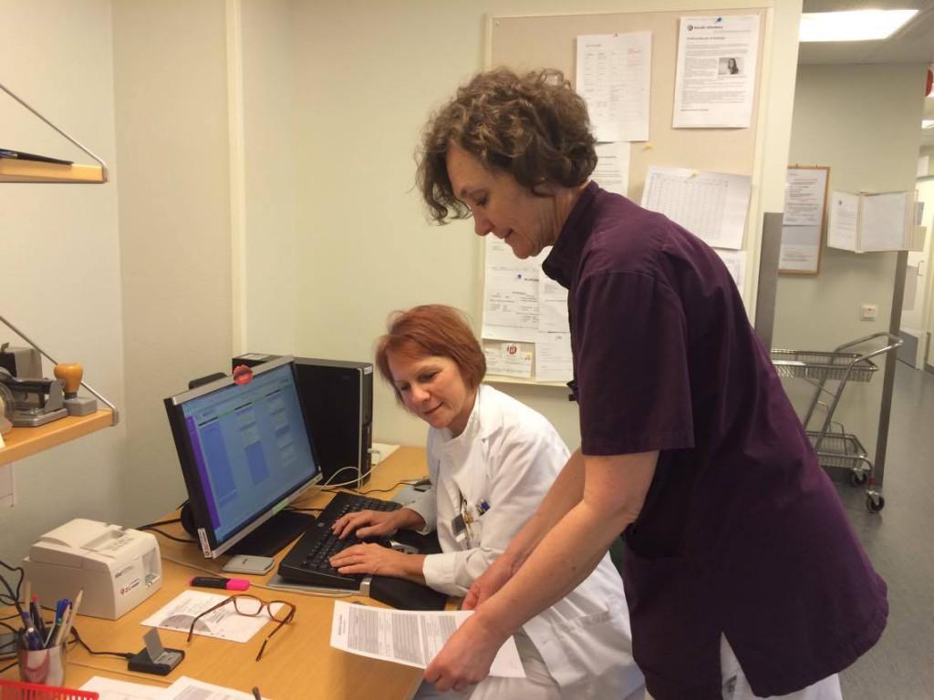 Två av mina härliga kollegor på Oral diagnostik.