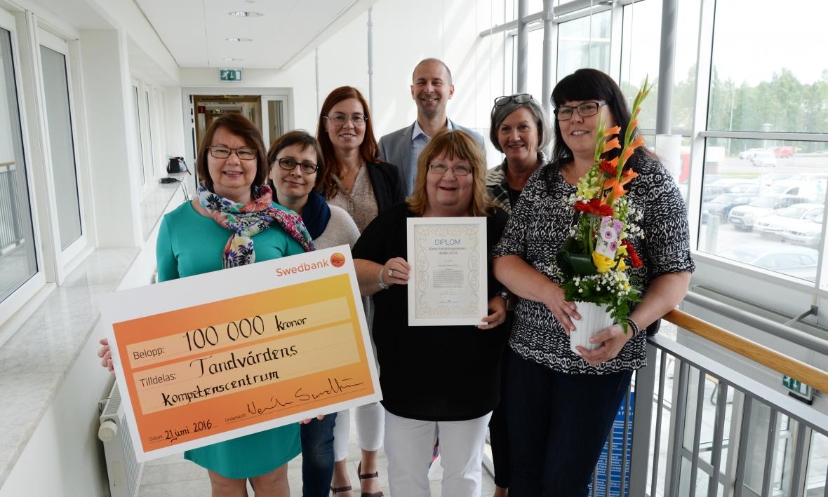 Parodontologin i Norrbotten prisas av landstinget