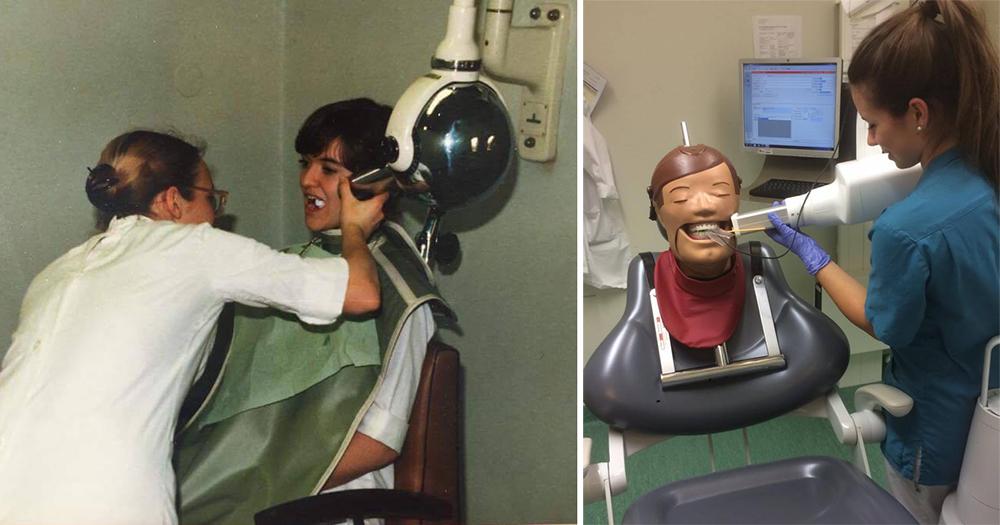 Röntgenundervisning då och nu – det har hänt en hel del sedan Jane och jag tog vårt första helstatus med planfilmhållare.