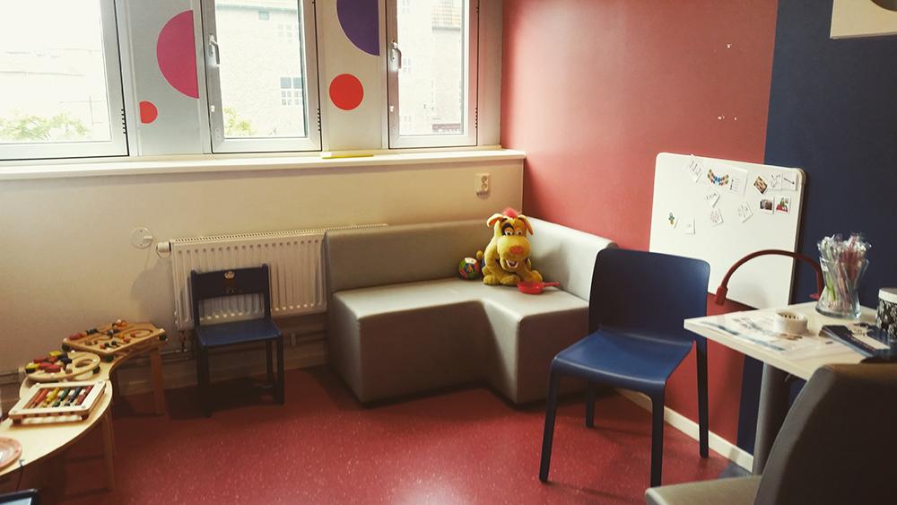 Behandlingsrum för de allra minsta.