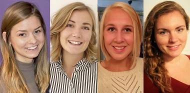 Fyra kvinnor blir årets studenter 2016