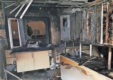 Tandvårdsklinik har förstörts i brand