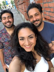 Panteha Bigdeli, Mani och Amir.