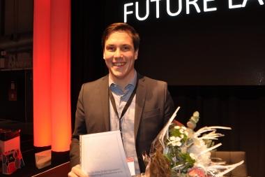 Victor Tollemar vann priset för bästa forskningsrapport