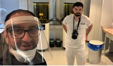 Dentallabb 3D-printar visir till sjukvården