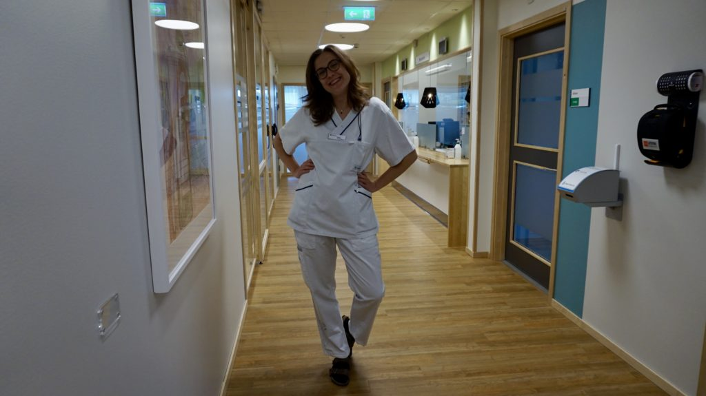 Sofia Persson på klinik